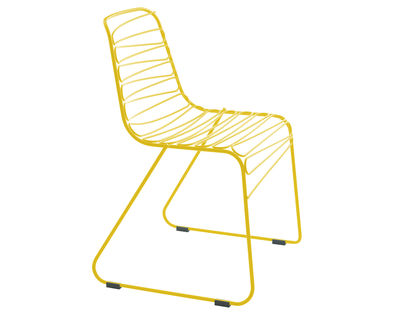 Furniture - Chairs - Flux Stacking chair - Metal by Magis - Yellow - Varnished steel