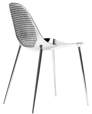 Möbel - Stühle  - Mammamia Punk Stuhl / mit Nieten versehen - Sitzschale & Stuhlbeine Metall - Opinion Ciatti - Chrom-glänzend / mit Nieten versehen - Aluminium, Metall