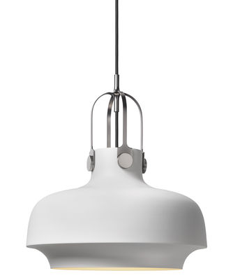 Suspension Copenhague SC7 / Ø 35 cm - Métal - &tradition blanc mat en métal