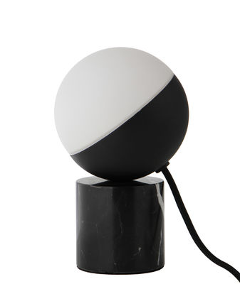 Lighting - Table Lamps - Fabian Mini Table lamp - / Marble by Frandsen - Marble / Black - Glass, Lacquered metal, Marble