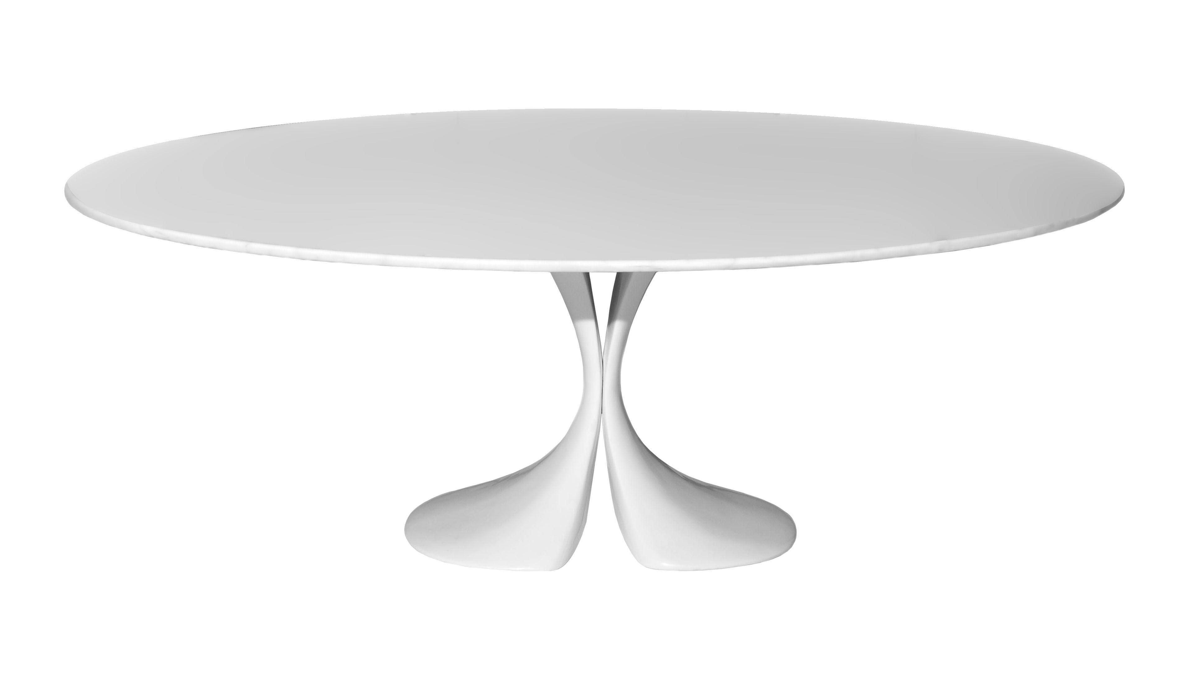 Arredamento - Tavoli - Table ovale Didymos - 180 x 126 cm - Piano in Cristalplant di Driade - Piano in Cristalplant bianco - Cristalplant