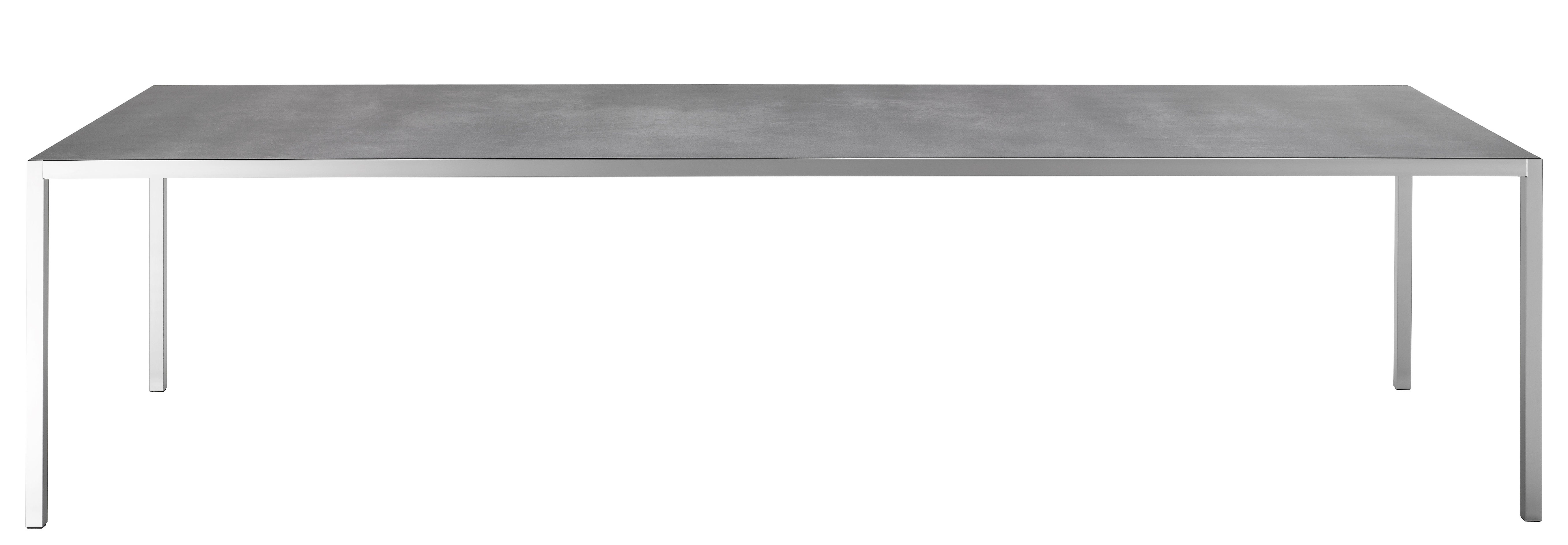 Mobilier - Tables - Table rectangulaire LIM 3.0 / Céramique - 220 x 100 cm - MDF Italia - Céramique gris / Structure alu anodisé - Aluminium anodisé, Céramique