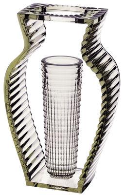 Vase I shine - Kartell vert en matière plastique