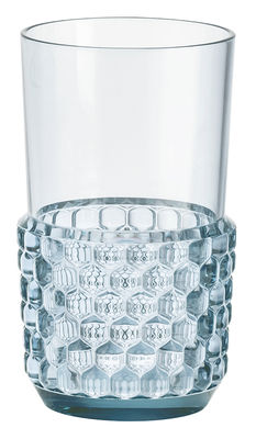 Arts de la table - Verres  - Verre Jellies Family / Large - H 15 cm - Kartell - Bleu ciel - PMMA