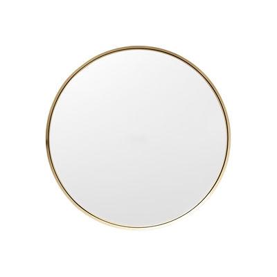 Decoration - Mirrors - Darkly Small Wall mirror - / Metal - Ø 20 cm by Menu - Brushed brass - Brass, Glass