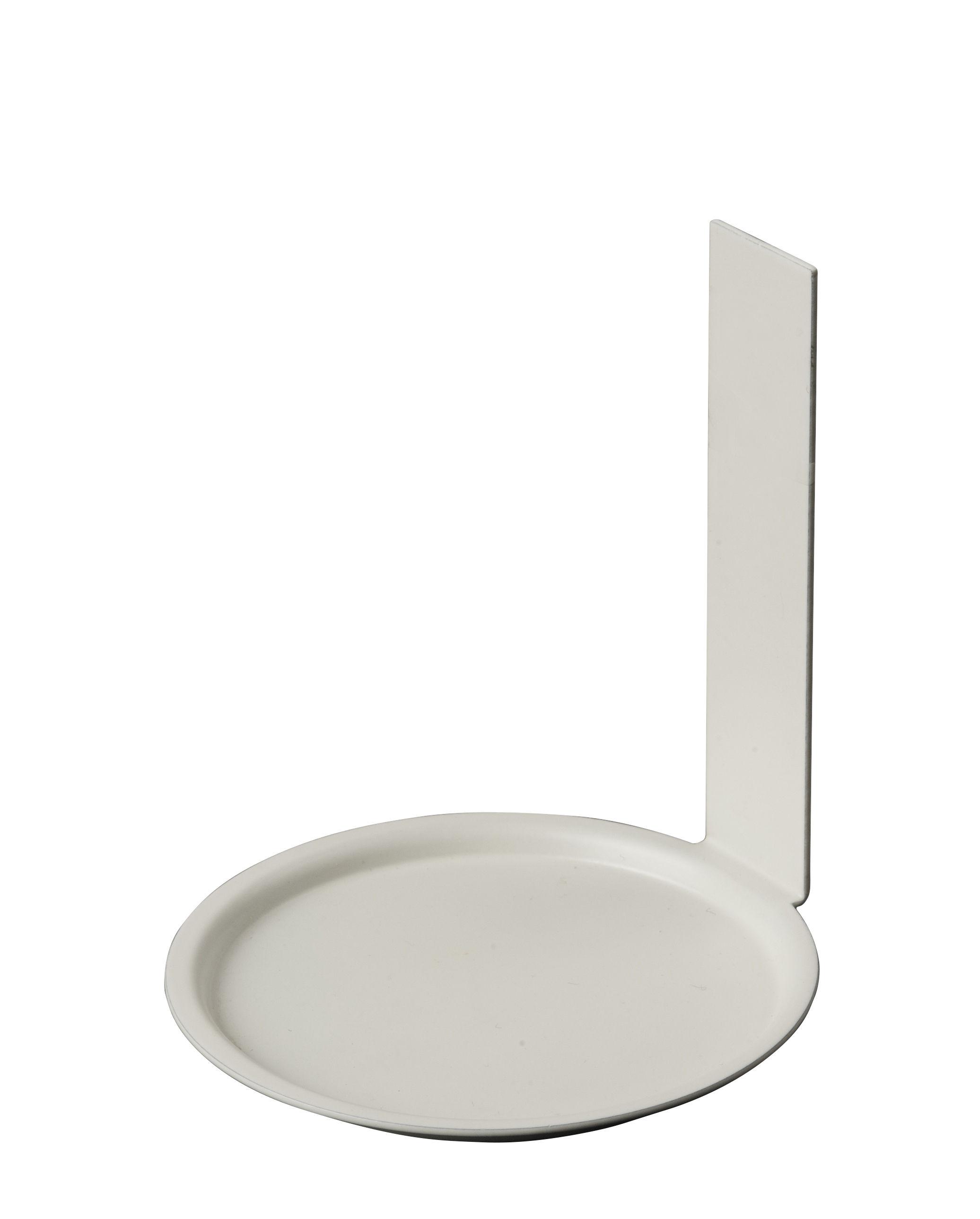 """Möbel - Regale und Bücherregale - Cup up Wandhalter / für den Becher """"Arne Jacobsen"""" - Design Letters - Weiß - rostfreier Stahl"""