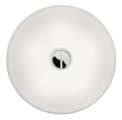 Luminaire - Appliques - Applique d'extérieur Mini Button OUTDOOR / Plafonnier - Ø 14 cm / Polycarbonate - Flos - Blanc - Polycarbonate