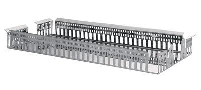Centre de table 100 Piazze - Torino - Driade Kosmo gris/argent en métal