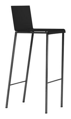 Chaise de bar Bianco Mat / H 80 cm - Zeus noir mat en métal