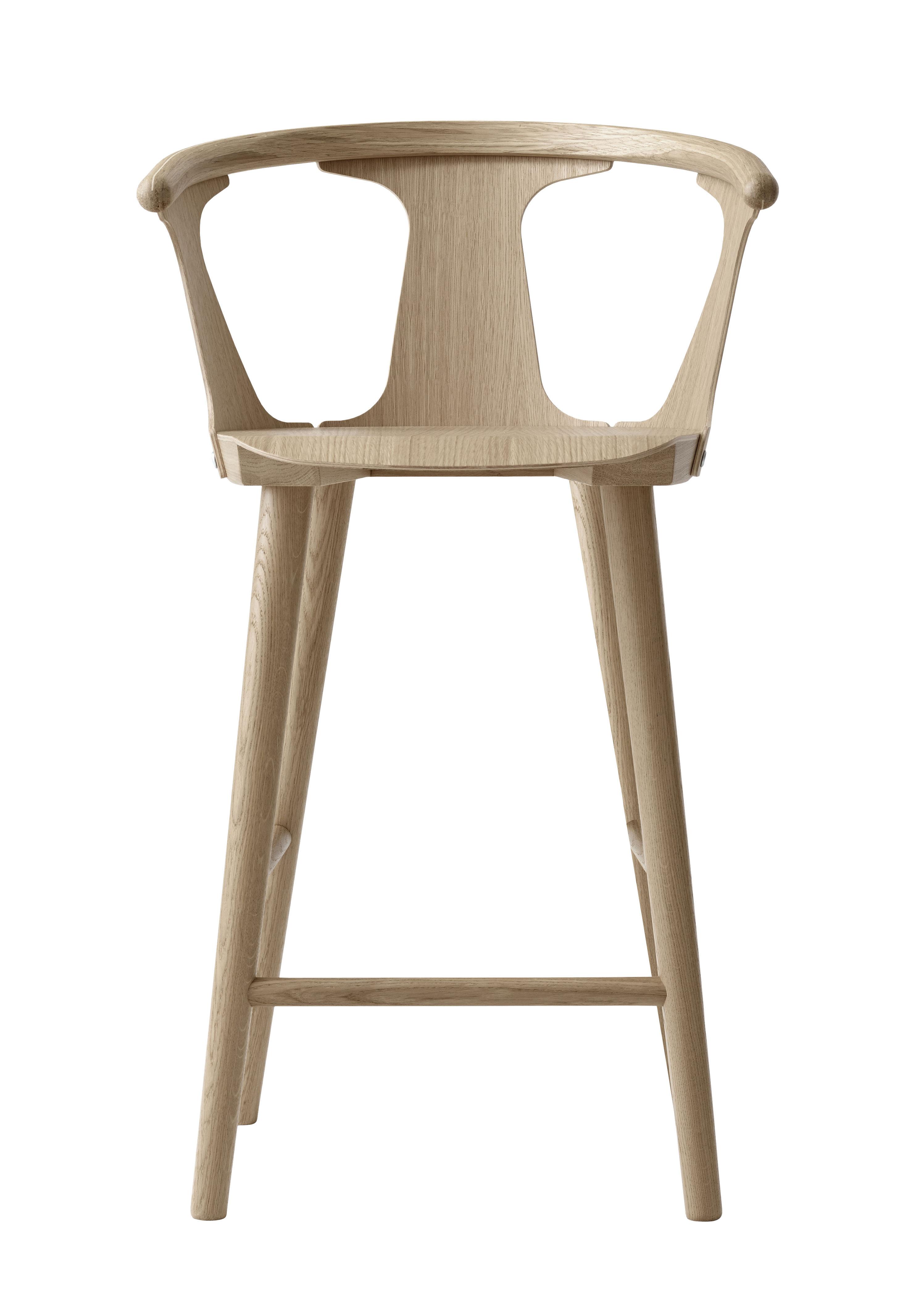 Mobilier - Tabourets de bar - Chaise de bar In Between SK7 / H 65 cm - Chêne - &tradition - Chêne blanchi - Chêne massif, Placage de chêne