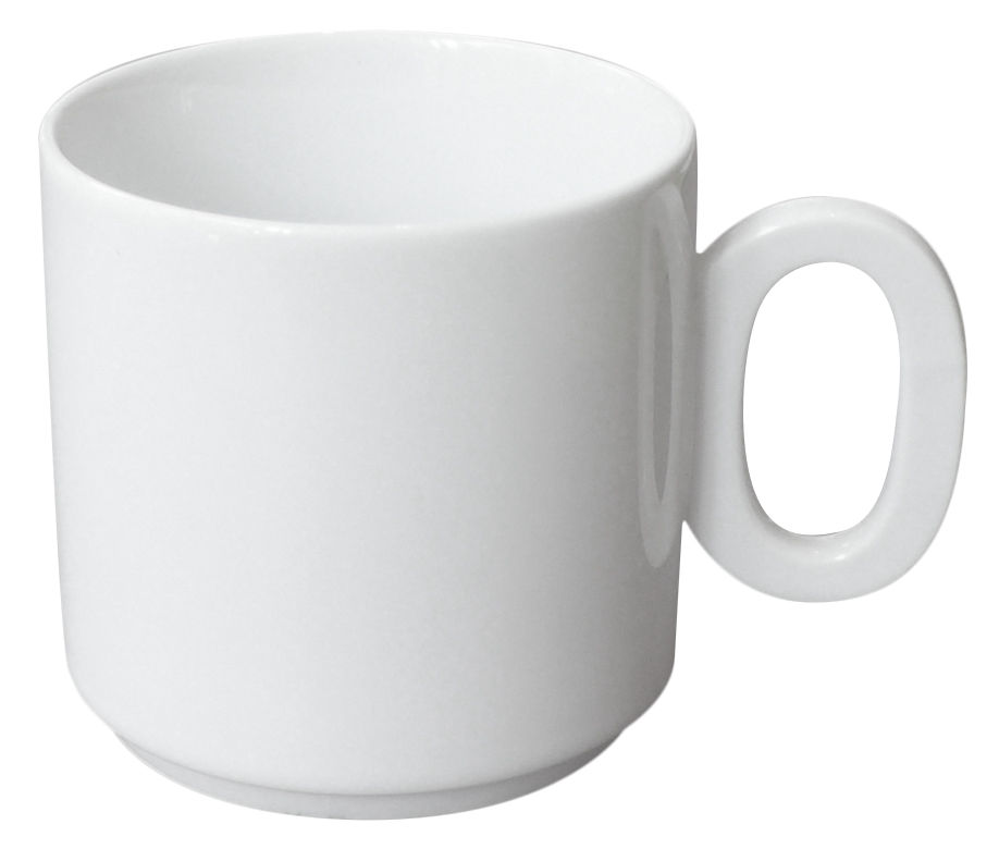 Tableware - Coffee Mugs & Tea Cups - Chiffre Coffee cup by Pa Design - White - Number 0 - Bone china