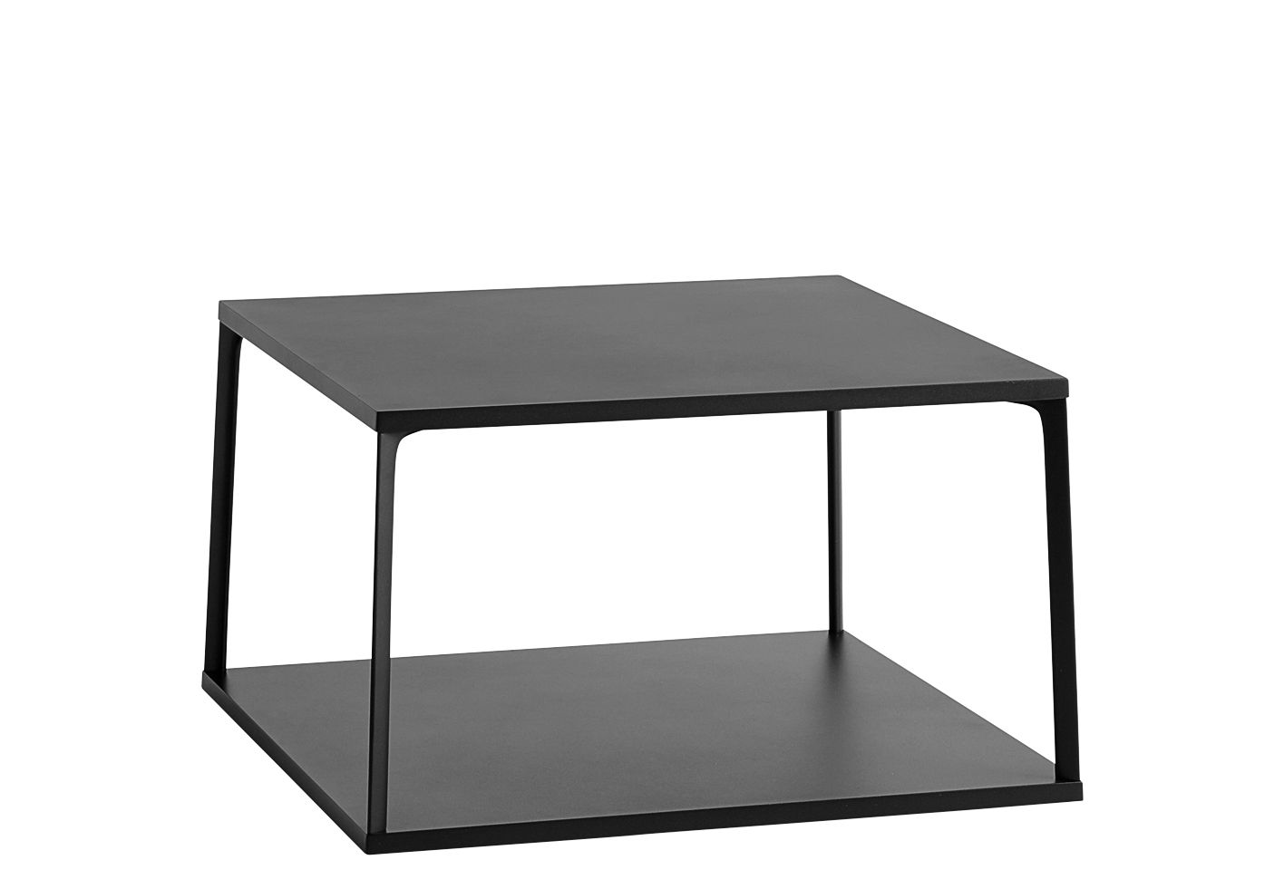 Furniture - Coffee Tables - Eiffel Coffee table - / Carré - L 65 x H 38 cm by Hay - Noir - Lacquered aluminium, Lacquered MDF