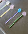 Cucchiaio Twist - / Vetro - Set di 2 / L 17,5 cm di Hay