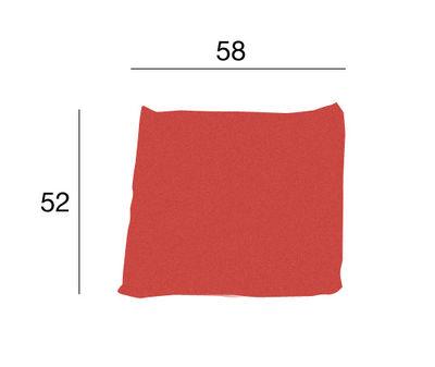 Image of Cuscino Kilt - Tessuto di Zanotta - Rosso - Tessuto