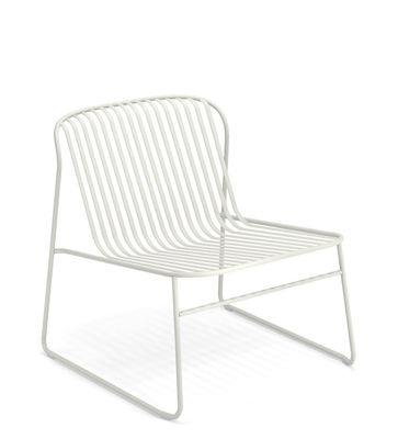Furniture - Armchairs - Riviera Easy chair - / Metal by Emu - White - Varnished steel
