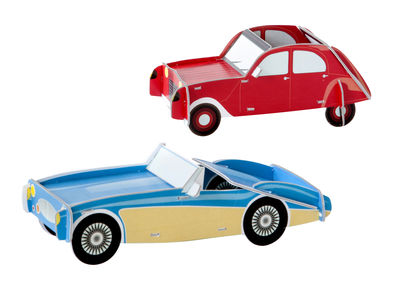 Decoration - Children's Home Accessories - Play! Figurine - Cool Cars 1 / Carboard by studio ROOF - Cars / Red & blue - Carton recyclé
