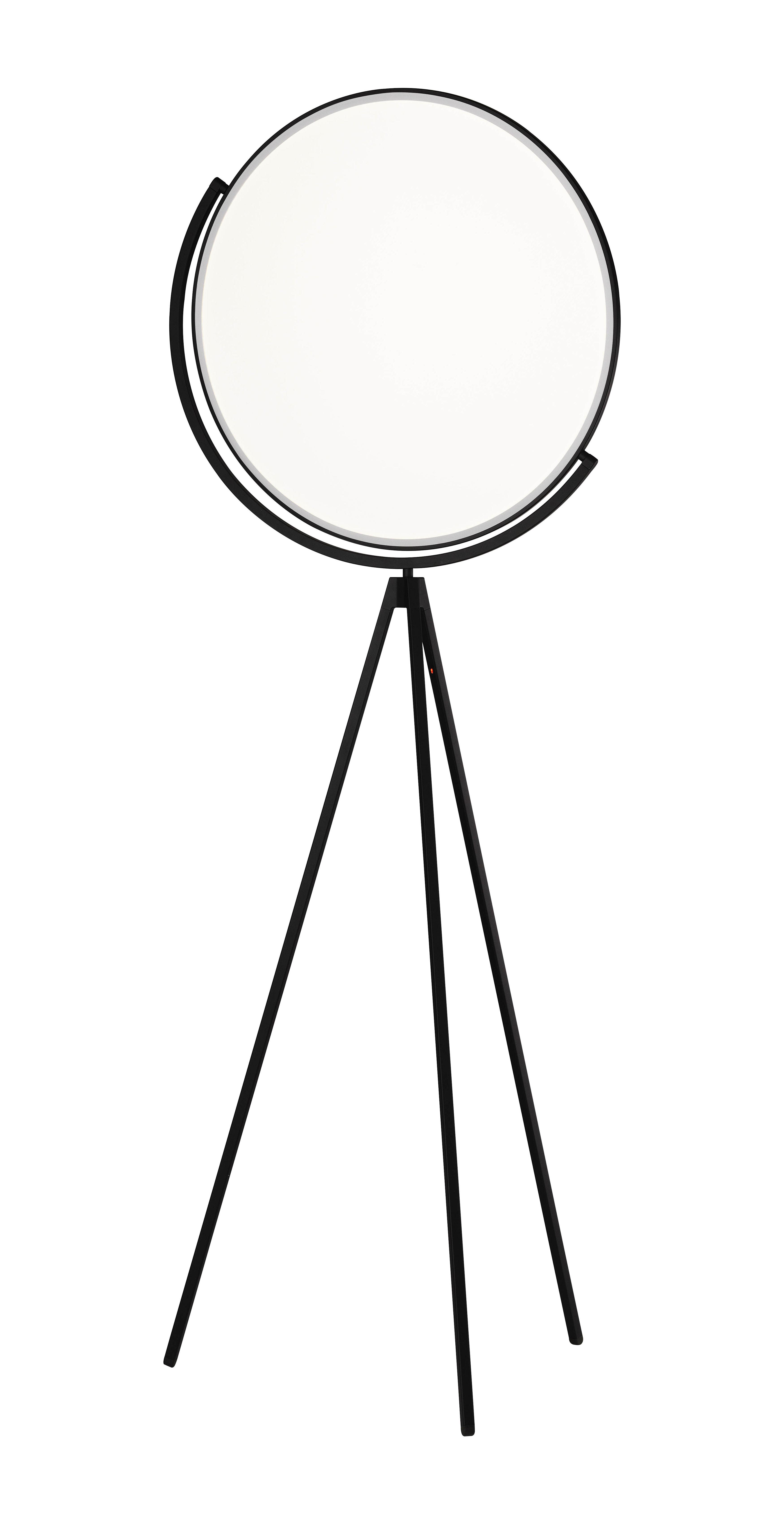 Lighting - Floor lamps - Superloon LED Floor lamp - H 197 cm by Flos - black - Painted aluminium, PMMA