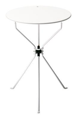 Möbel - Couchtische - Cumano Klapptisch Ø 55 cm x H 70 cm - Klapptisch - Zanotta - Weiß - ABS, gefirnister Stahl