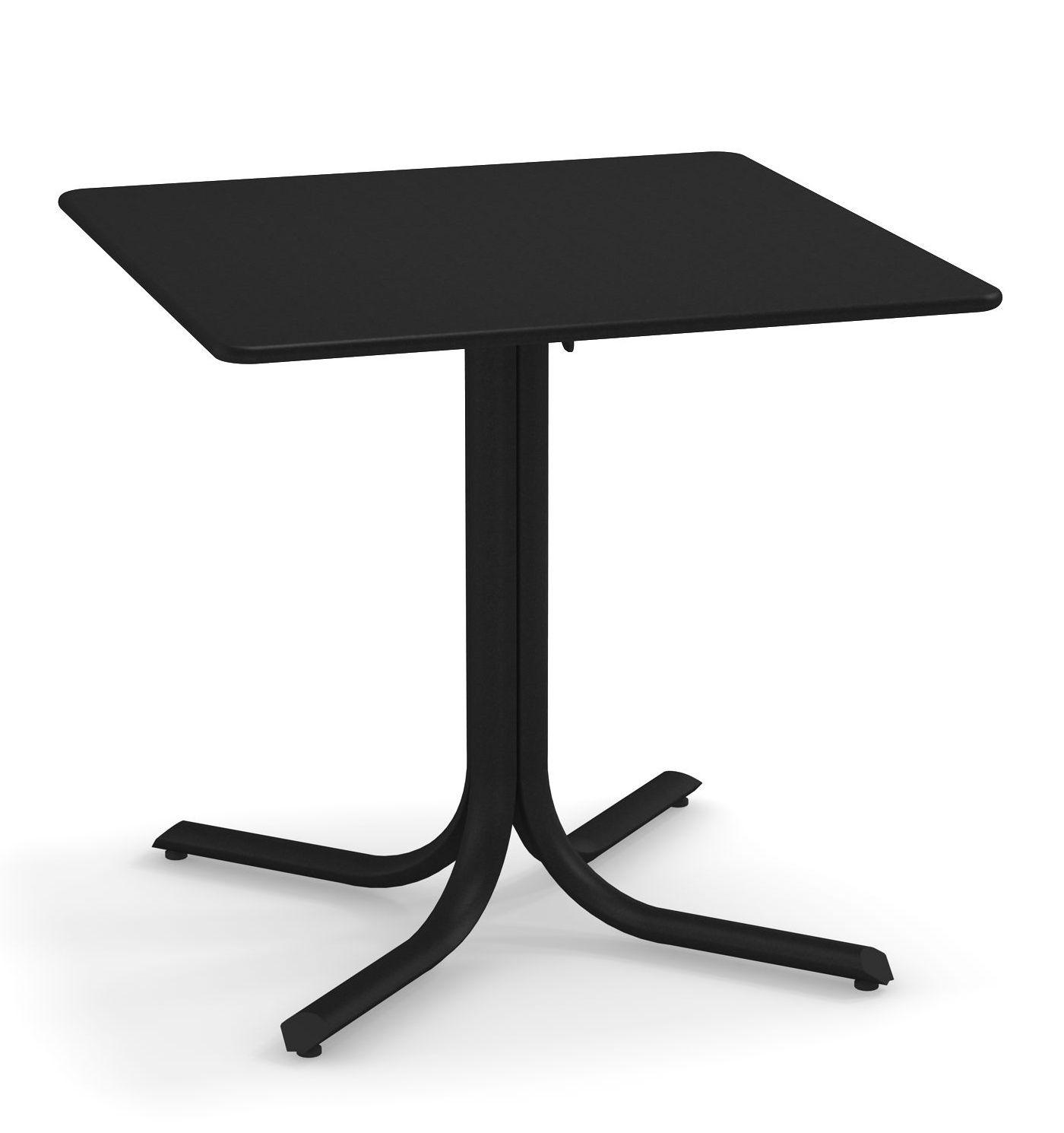 Outdoor - Tische - System Klapptisch / 80 x 80 cm - Emu - Schwarz - Verzinkter lackierter Stahl