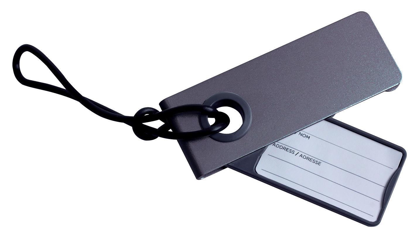 Accessoires - Taschen, Kulturbeutel und Geldbörsen - Néo Koffer-Etikett - Lexon - Anthrazit - Kautschuk, Zink