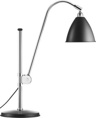 Illuminazione - Lampade da tavolo - Lampada da tavolo Bestlite BL1 - Riedizione del 1930 di Gubi - Nero - Metallo cromato