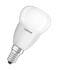 Ampoule LED E14 avec radiateur / Sphérique dépolie - 5,7W=40W (2700K, blanc chaud) - Osram