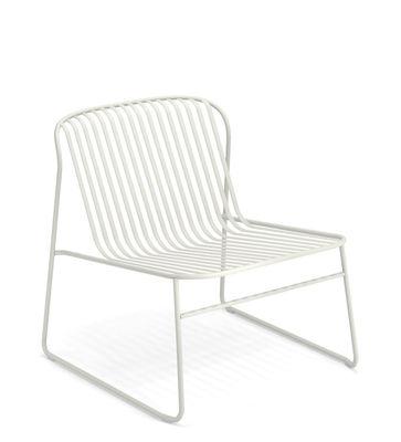 Riviera Lounge Sessel / Metall - Emu - Weiß