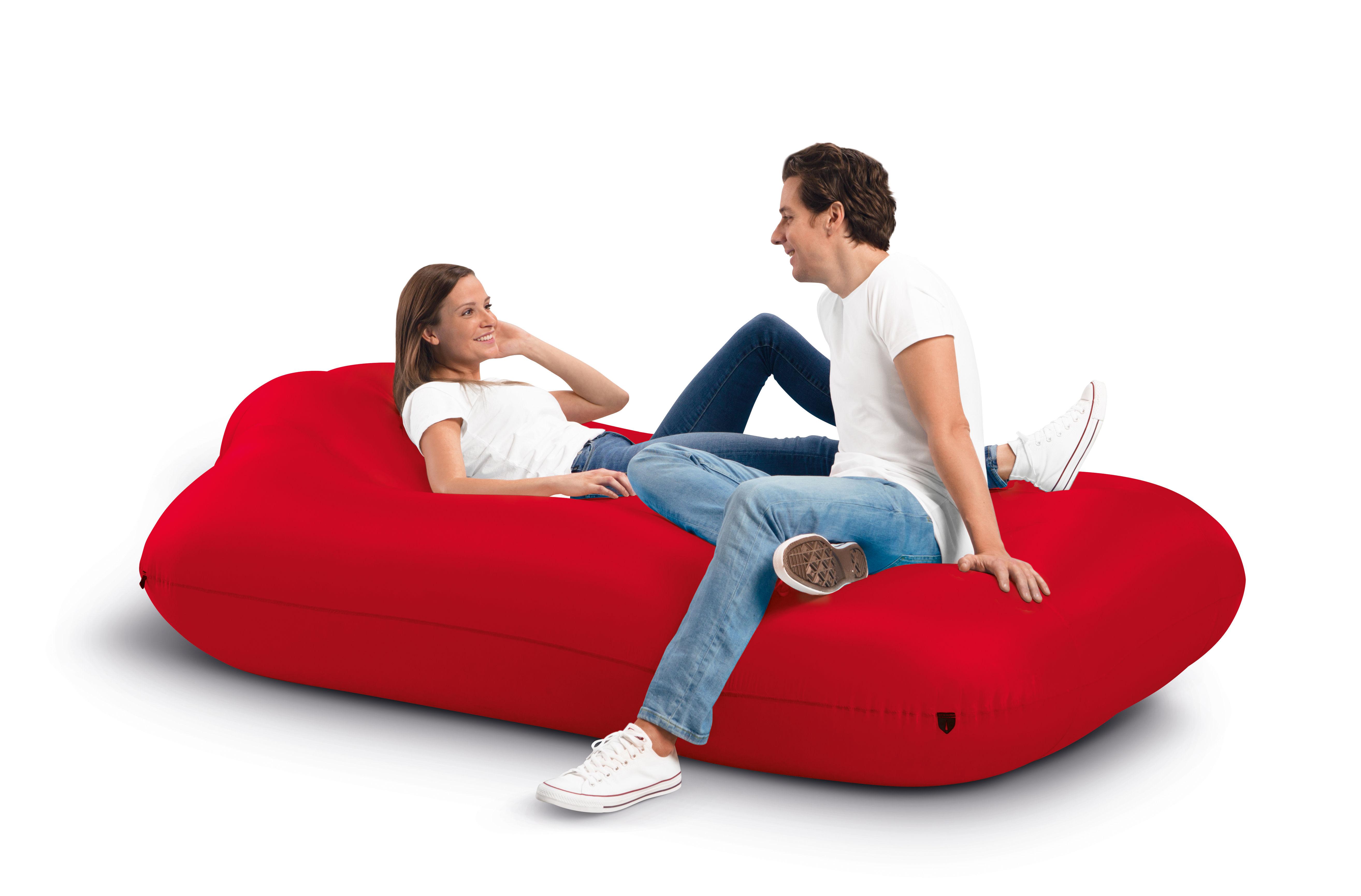 Mobilier - Poufs - Matelas gonflable Lamzac XXXL / L 218 x Larg 130 cm - Fatboy - Rouge - Nylon