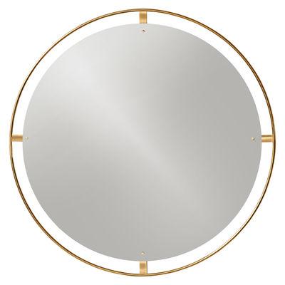 Déco - Miroirs - Miroir mural Nimbu / Ø 110 cm - Laiton - Menu - Laiton brossé - Laiton brossé, MDF, Verre