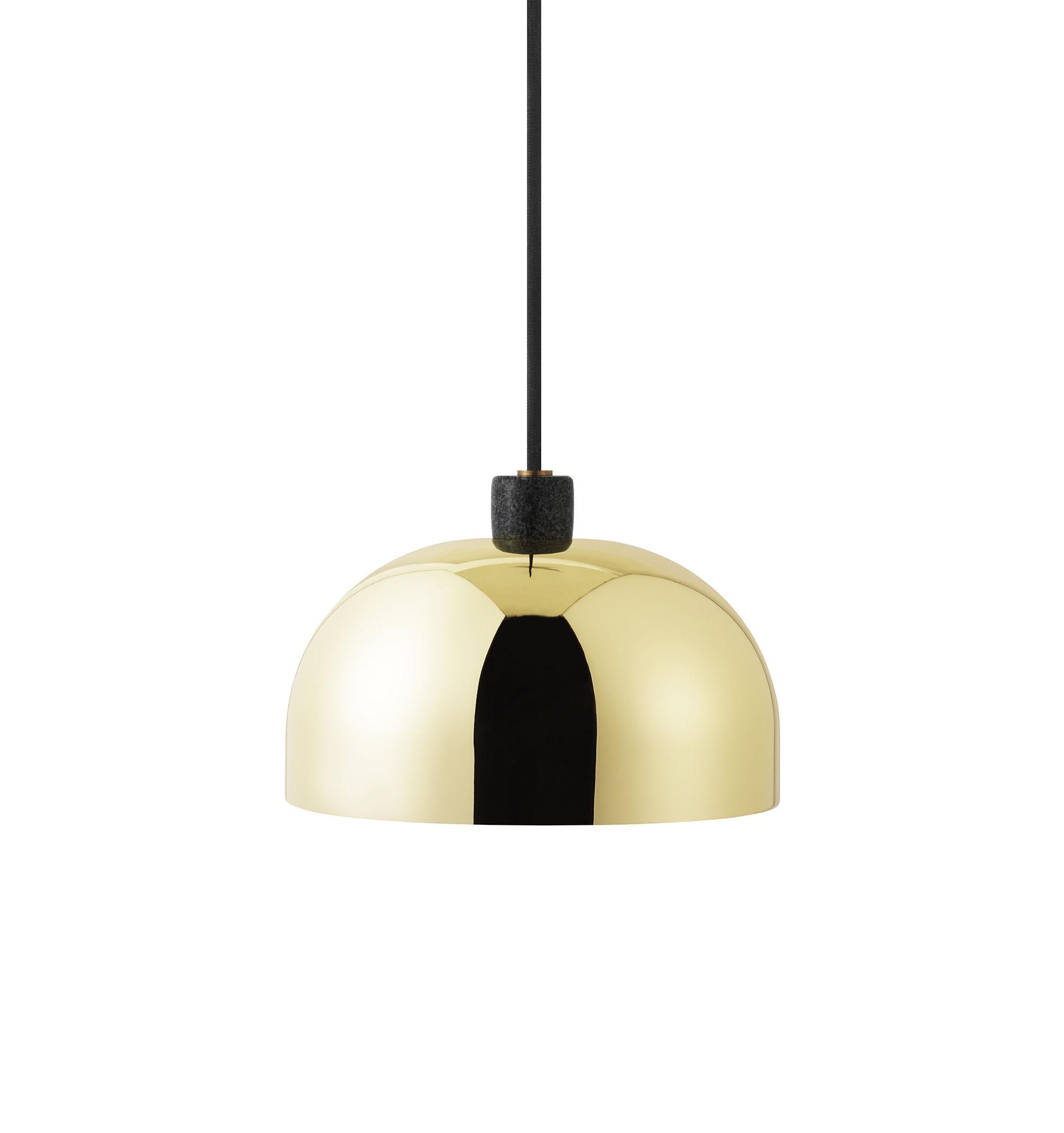 Lighting - Pendant Lighting - Grant Pendant - / Brass & granite - Ø 23 cm by Normann Copenhagen - Brass - Brass, Granite