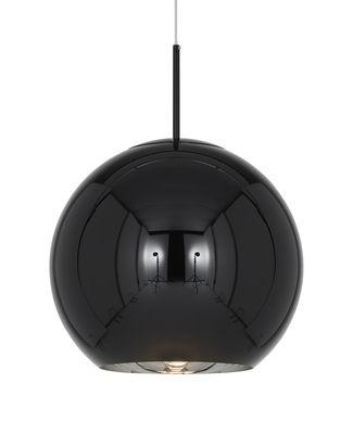 Copper Round Pendelleuchte / Ø 45 cm - Tom Dixon - Schwarz glänzend