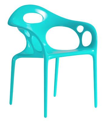 Image of Poltrona impilabile Supernatural di Moroso - Blu - Materiale plastico