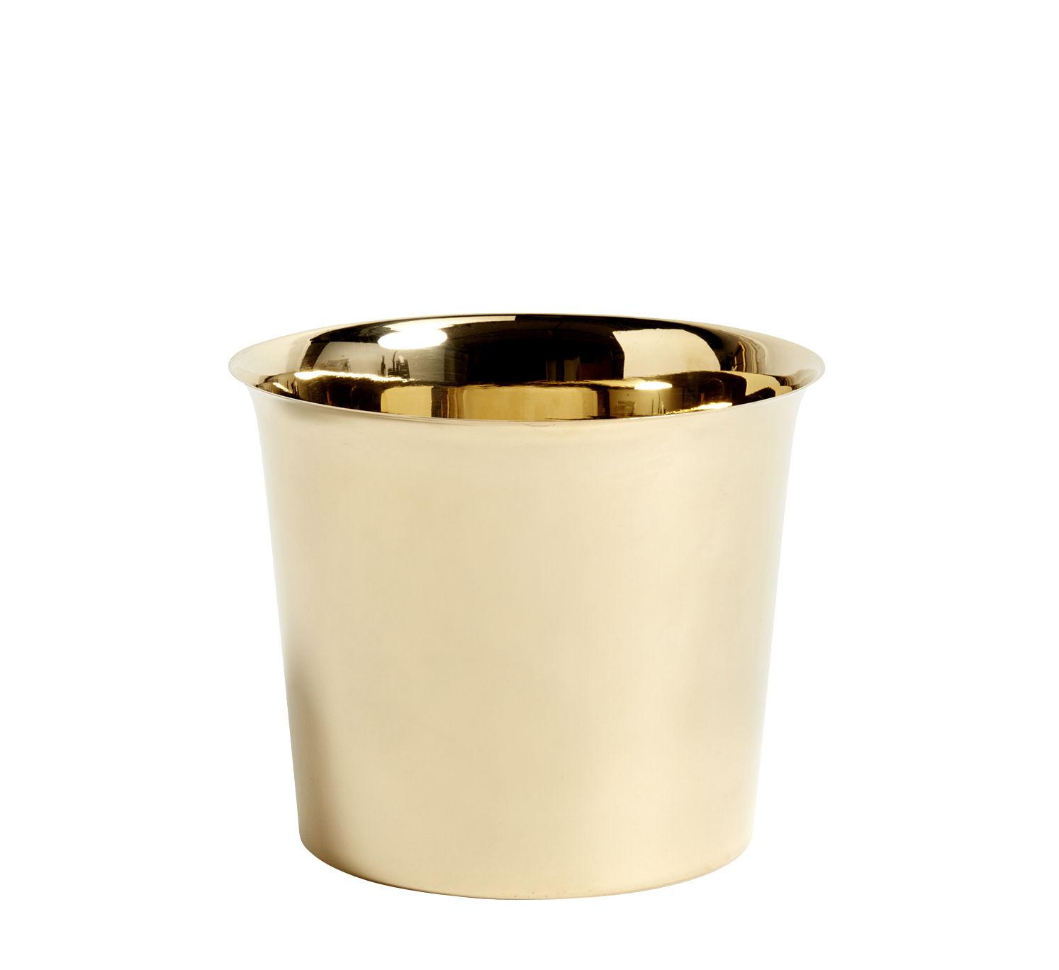 Déco - Pots et plantes - Pot de fleurs Botanical Large /Ø18 cm - Laiton - Hay - Pot / Or - Laiton