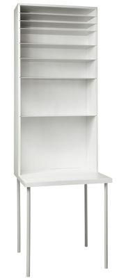 Arredamento - Mobili da ufficio - Scrivania Hardworking - Large / H 220 cm di droog - Bianco - alluminio verniciato, Faggio verniciato