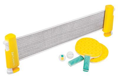 Set ping-pong Play On / Raquettes, balles & filet - Sunnylife jaune,vert en bois