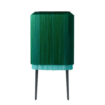 Furniture - Bookcases & Bookshelves - Lady Alpaga Shelf - / L 74 x H 164 cm - Wall fastening by Ibride - Malachite - HPL laminate, Viscose