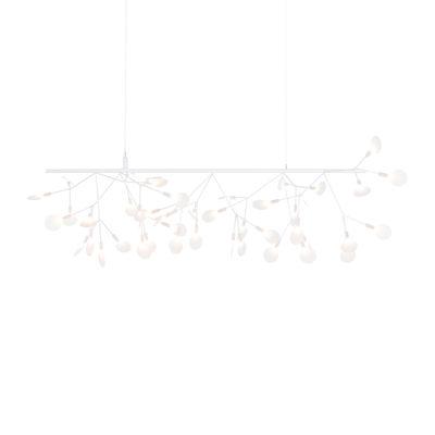 Illuminazione - Lampadari - Sospensione Heracleum Endless - / L 116 cm - LED di Moooi - bianca - Acciaio, Metallo, policarbonato