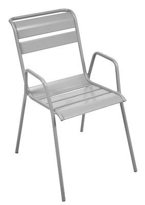 Monceau Stapelbarer Sessel / Metall - Fermob - Metallgrau