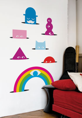 Déco - Stickers, papiers peints & posters - Sticker Meriwinkles - Domestic - Multicolore - Vinyle