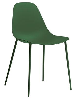 Möbel - Stühle  - Mammamia Stuhl / Sitzschale & Stuhlbeine Metall - Opinion Ciatti - Dunkelgrün - Aluminium, Metall