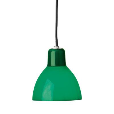 Suspension Luxy H5 /Cordon noir - Rotaliana noir,vert brillant en matière plastique