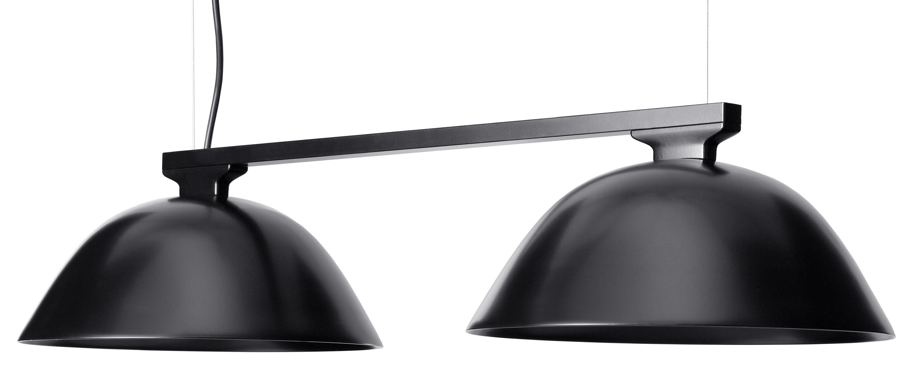 Luminaire - Suspensions - Suspension Sempé w103s2 double / LED - L 73 cm - Wästberg - Noir - Acier, Aluminium