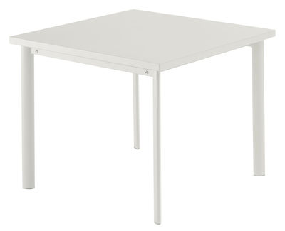 Table carrée Star / 90 x 90 cm - Emu blanc en métal