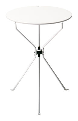 Table pliante Cumano / Ø 55 cm - Zanotta blanc en métal