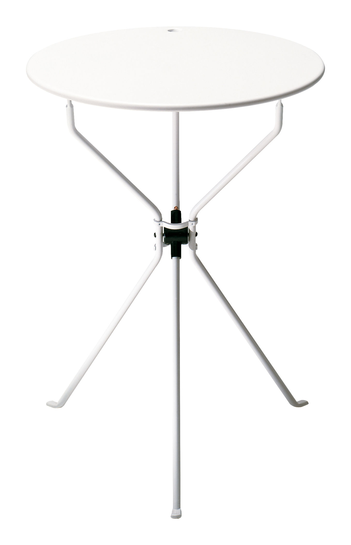 Mobilier - Tables basses - Table pliante Cumano / Ø 55 cm - Zanotta - Blanc - ABS, Acier verni