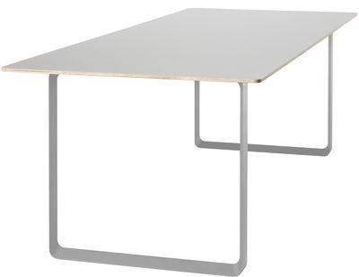 Table rectangulaire 70-70 / 225 x 90 cm - Contreplaqué - Muuto gris en métal