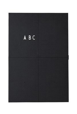 Tableau memo A3 / L 30 x H 42 cm - Design Letters noir en matière plastique