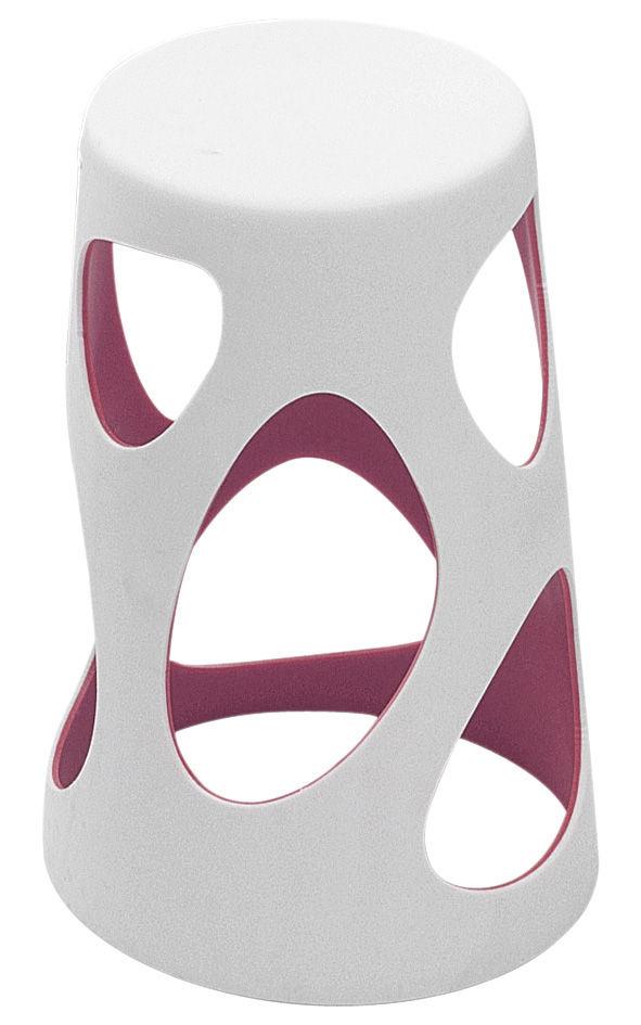 Mobilier - Tabourets de bar - Tabouret de bar Liberty / H 64 cm - Plastique - MyYour - Extérieur blanc / Interieur violet - Poleasy