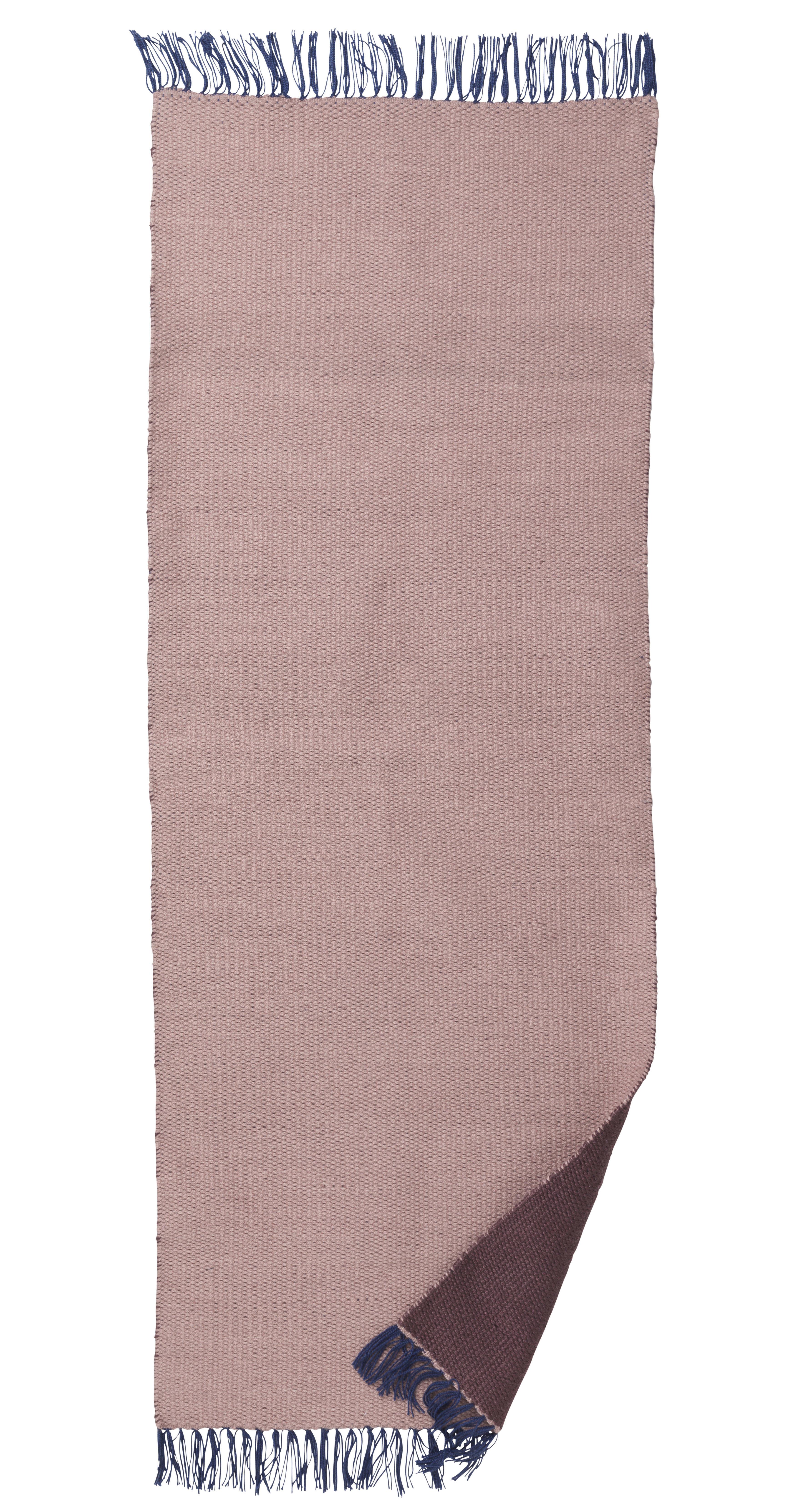 Déco - Tapis - Tapis d'extérieur Nomad Large / 70 x 180 cm - Ferm Living - Rose pâle / Bordeaux - Polyester recyclé