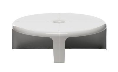 Arredamento - Tavolini  - Tavolino 4-4 - / Scaffale - Set 4 elementi modulabili di B-LINE - Bianco - ABS